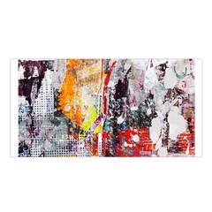 Abstract Graffiti Satin Shawl