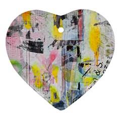Graffiti Graphic Heart Ornament