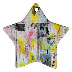 Graffiti Graphic Star Ornament