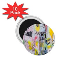 Graffiti Graphic 1 75  Button Magnet (10 Pack)