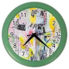 Graffiti Graphic Wall Clock (color)