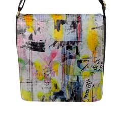 Graffiti Graphic Flap Closure Messenger Bag (l)