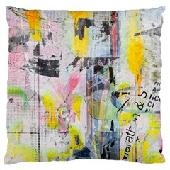 Graffiti Graphic Large Flano Cushion Case (One Side)
