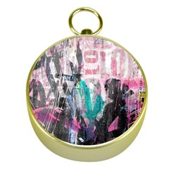 Graffiti Grunge Love Gold Compass
