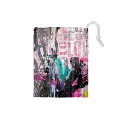 Graffiti Grunge Love Drawstring Pouch (small)
