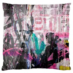 Graffiti Grunge Love Large Flano Cushion Case (One Side)