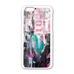 Graffiti Grunge Love Apple iPhone 6 White Enamel Case