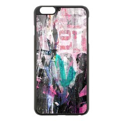 Graffiti Grunge Love Apple iPhone 6 Plus Black Enamel Case