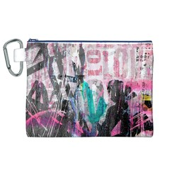 Graffiti Grunge Love Canvas Cosmetic Bag (xl)