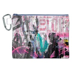 Graffiti Grunge Love Canvas Cosmetic Bag (XXL)