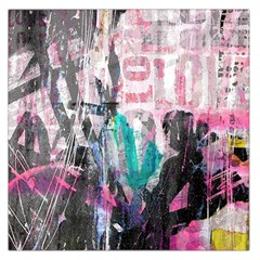Graffiti Grunge Love Large Satin Scarf (Square)