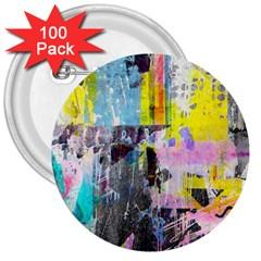 Graffiti Pop 3  Button (100 Pack)