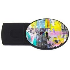 Graffiti Pop 4gb Usb Flash Drive (oval)