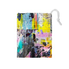 Graffiti Pop Drawstring Pouch (Medium)