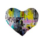 Graffiti Pop Standard 16  Premium Flano Heart Shape Cushion  Front