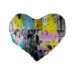 Graffiti Pop Standard 16  Premium Flano Heart Shape Cushion  Back