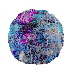 Graffiti Splatter Standard 15  Premium Round Cushion