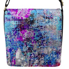 Graffiti Splatter Flap Closure Messenger Bag (small)