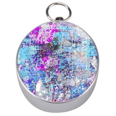 Graffiti Splatter Silver Compass