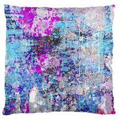 Graffiti Splatter Large Flano Cushion Case (One Side)