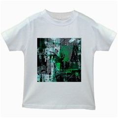 Green Urban Graffiti Kids T-shirt (White)