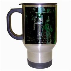 Green Urban Graffiti Travel Mug (silver Gray)