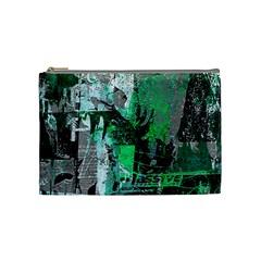 Green Urban Graffiti Cosmetic Bag (medium)