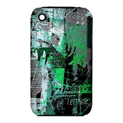 Green Urban Graffiti Apple Iphone 3g/3gs Hardshell Case (pc+silicone)