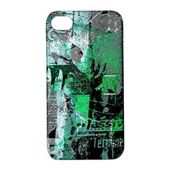 Green Urban Graffiti Apple Iphone 4/4s Hardshell Case With Stand