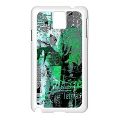 Green Urban Graffiti Samsung Galaxy Note 3 N9005 Case (white)
