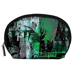 Green Urban Graffiti Accessory Pouch (Large)