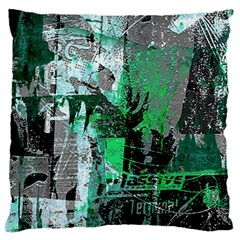 Green Urban Graffiti Standard Flano Cushion Case (one Side)
