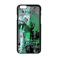 Green Urban Graffiti Apple iPhone 6 Black Enamel Case