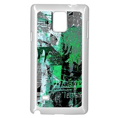 Green Urban Graffiti Samsung Galaxy Note 4 Case (White)