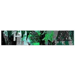 Green Urban Graffiti Flano Scarf (Small)