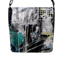 Urban Funk Flap Closure Messenger Bag (l)