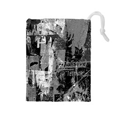 Urban Graffiti Drawstring Pouch (Large)