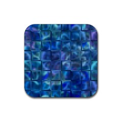 Blue Squares Tiles Drink Coaster (square)