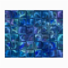 Blue Squares Tiles Glasses Cloth (small, Two Sided)