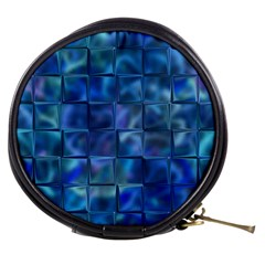 Blue Squares Tiles Mini Makeup Case