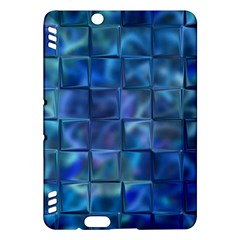 Blue Squares Tiles Kindle Fire Hdx Hardshell Case