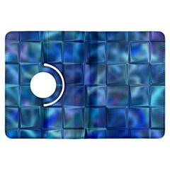 Blue Squares Tiles Kindle Fire Hdx Flip 360 Case