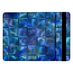 Blue Squares Tiles Samsung Galaxy Tab Pro 12 2  Flip Case