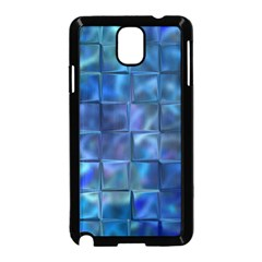 Blue Squares Tiles Samsung Galaxy Note 3 Neo Hardshell Case (Black)
