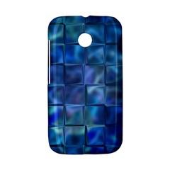 Blue Squares Tiles Motorola Moto E Hardshell Case