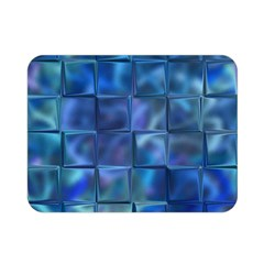 Blue Squares Tiles Double Sided Flano Blanket (Mini)