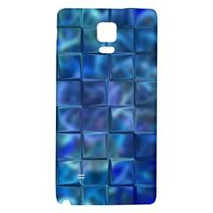 Blue Squares Tiles Samsung Note 4 Hardshell Back Case