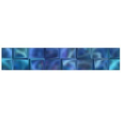 Blue Squares Tiles Flano Scarf (Large)