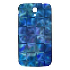 Blue Squares Tiles Samsung Galaxy Mega I9200 Hardshell Back Case