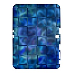 Blue Squares Tiles Samsung Galaxy Tab 4 (10.1 ) Hardshell Case